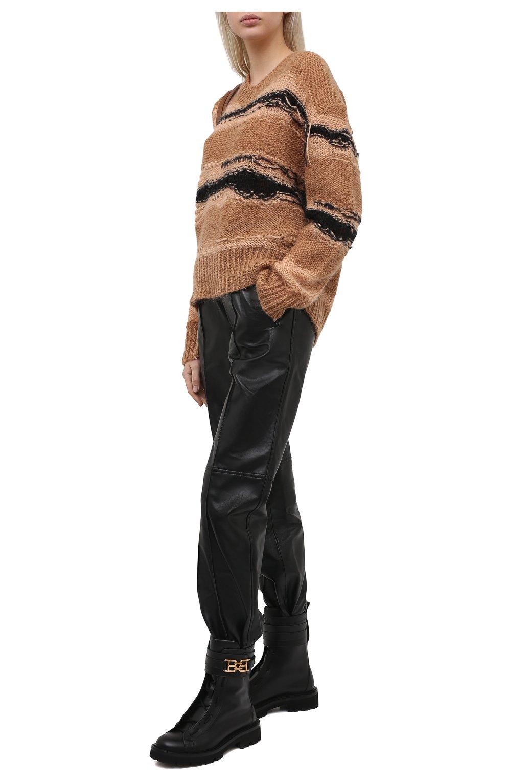 Женские кожаные ботинки glaris BALLY черного цвета, арт. GLARIS/00 | Фото 2
