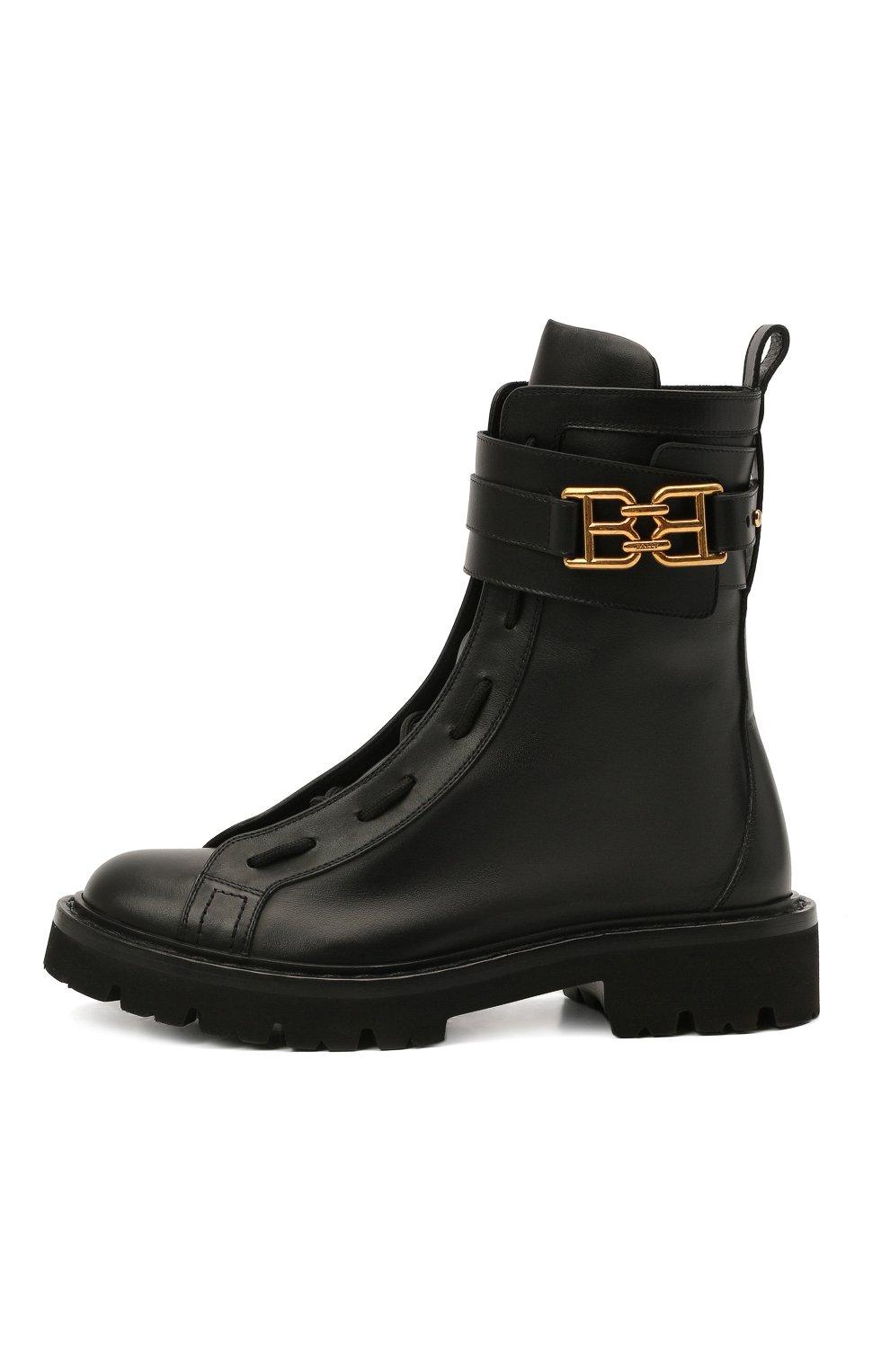 Женские кожаные ботинки glaris BALLY черного цвета, арт. GLARIS/00 | Фото 3