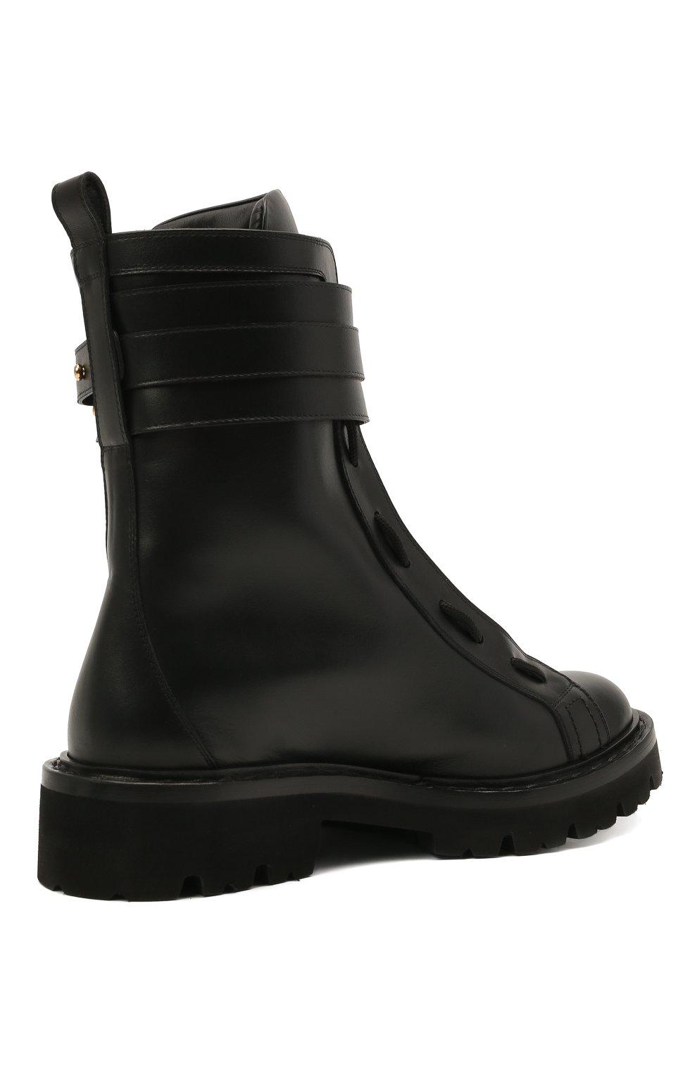 Женские кожаные ботинки glaris BALLY черного цвета, арт. GLARIS/00 | Фото 4