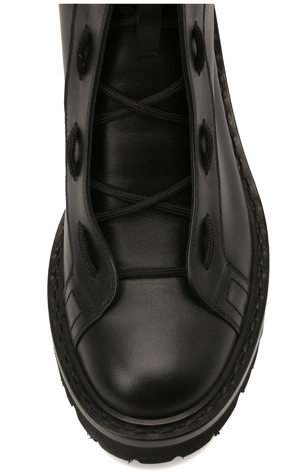 Женские кожаные ботинки glaris BALLY черного цвета, арт. GLARIS/00 | Фото 5