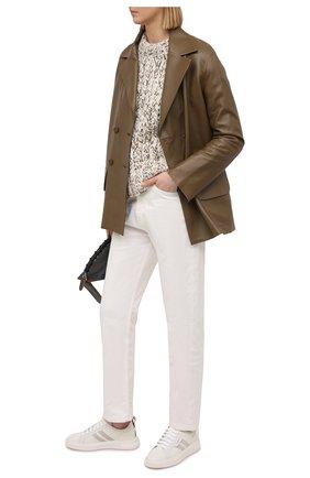 Женские кожаные кеды maxim BALLY белого цвета, арт. MAXIM-W/07 | Фото 2