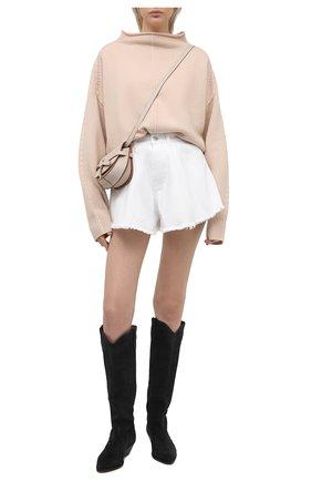 Женские джинсовые шорты FORTE DEI MARMI COUTURE белого цвета, арт. 21SF9877 | Фото 2