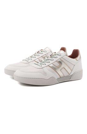 Женские комбинированные кроссовки h357 HOGAN белого цвета, арт. HXW3570AC40P9D | Фото 1
