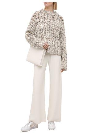 Женские комбинированные кроссовки h357 HOGAN белого цвета, арт. HXW3570AC40P9D | Фото 2