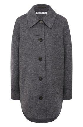 Женская шерстяная куртка ACNE STUDIOS серого цвета, арт. A90338   Фото 1