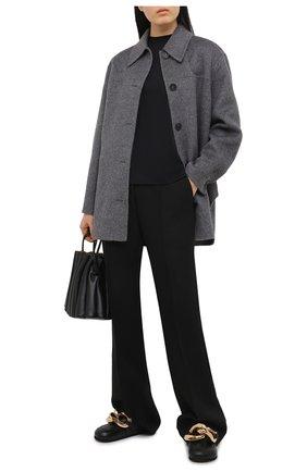 Женская шерстяная куртка ACNE STUDIOS серого цвета, арт. A90338   Фото 2