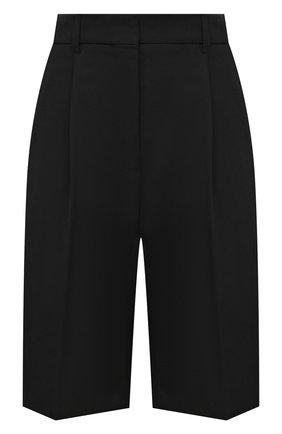 Женские шерстяные шорты ACNE STUDIOS черного цвета, арт. AE0038 | Фото 1