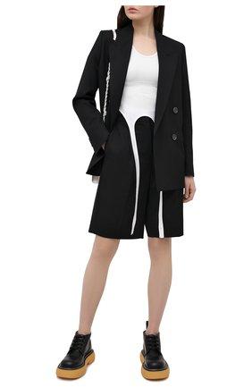 Женские шерстяные шорты ACNE STUDIOS черного цвета, арт. AE0038 | Фото 2