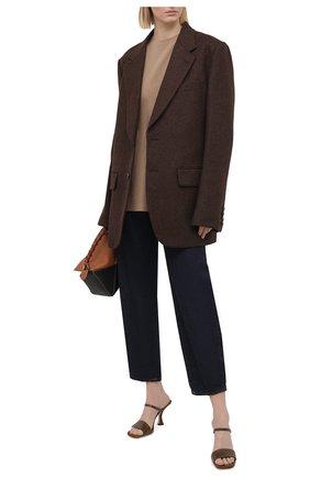 Женская хлопковая футболка ACNE STUDIOS коричневого цвета, арт. AL0199 | Фото 2