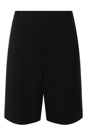 Женские хлопковые шорты SAINT LAURENT черного цвета, арт. 610553/Y5C05 | Фото 1