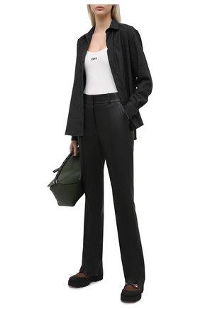 Женская рубашка AMI темно-серого цвета, арт. H20FC139.422 | Фото 2