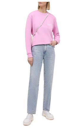 Женский хлопковый свитшот MSGM светло-розового цвета, арт. 3041MDM107 217299 | Фото 2