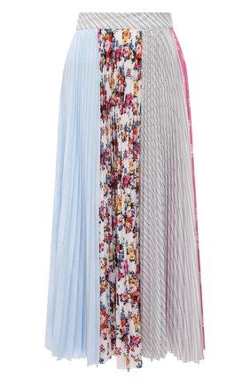 Женская плиссированная юбка MSGM разноцветного цвета, арт. 3041MDD29P 217275   Фото 1