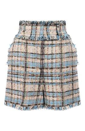 Женские хлопковые шорты MSGM голубого цвета, арт. 3041MDB03 217102   Фото 1