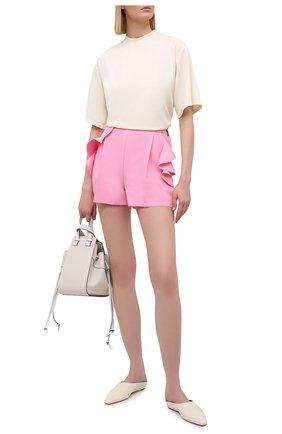 Женские шорты MSGM светло-розового цвета, арт. 3041MDB02 217100 | Фото 2