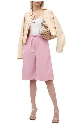 Женские шорты из экокожи MSGM светло-розового цвета, арт. 3041MDB01A 217101 | Фото 2