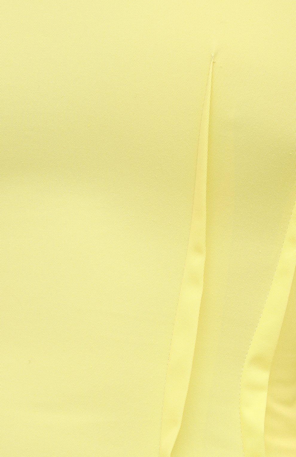 Женское хлопковое платье MSGM желтого цвета, арт. 3041MDA25 217109 | Фото 5