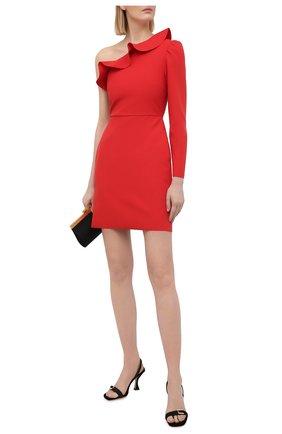 Женское платье MSGM красного цвета, арт. 3041MDA06 217100 | Фото 2