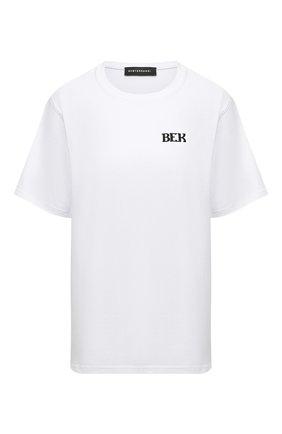 Женская хлопковая футболка SUBTERRANEI белого цвета, арт. P21SUB05   Фото 1