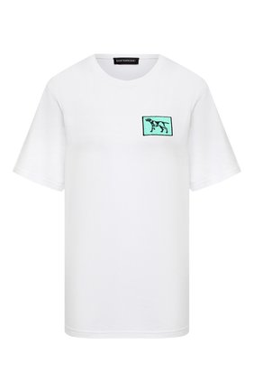 Женская хлопковая футболка SUBTERRANEI белого цвета, арт. P21SUB04   Фото 1