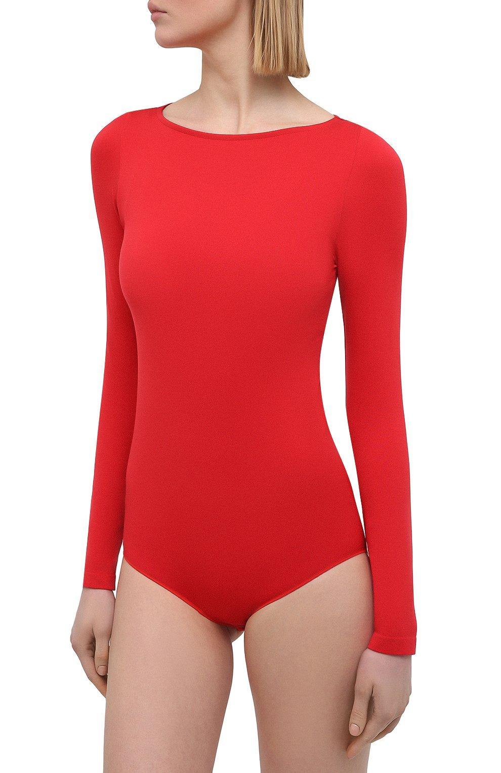 Женское боди FALKE красного цвета, арт. 40925   Фото 2