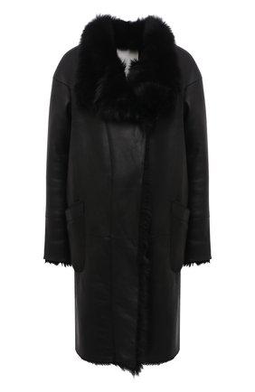 Женская дубленка COLOR TEMPERATURE черного цвета, арт. Д,Л-1/3 | Фото 1