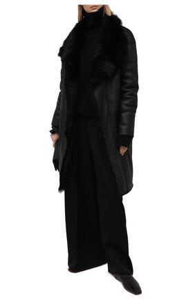 Женская дубленка COLOR TEMPERATURE черного цвета, арт. Д,Л-1/3 | Фото 2