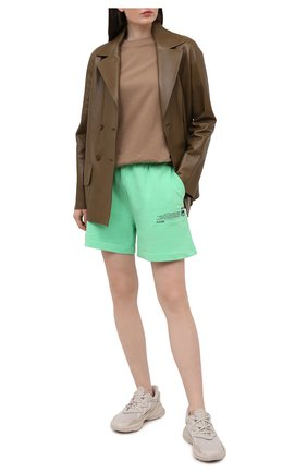 Женские комбинированные кроссовки ozweego ADIDAS ORIGINALS бежевого цвета, арт. FX6029 | Фото 2
