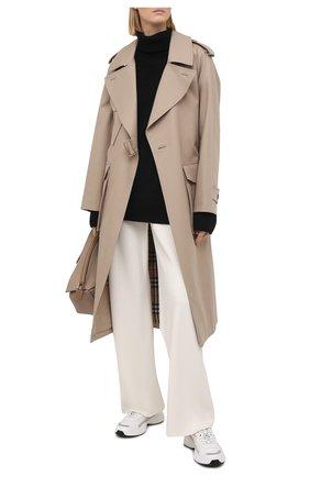 Женские кожаные кроссовки valentino garavani shegoes VALENTINO серого цвета, арт. VW2S0AB1/KCX | Фото 2