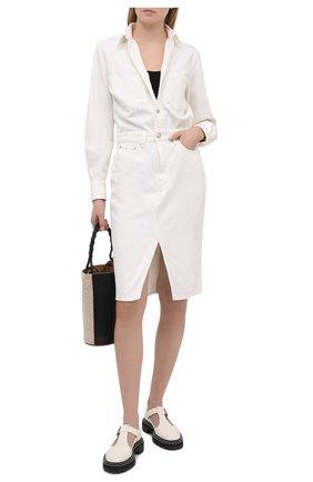 Женское джинсовое платье RAG&BONE белого цвета, арт. WCW20H30024D02 | Фото 2