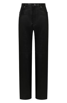 Женские кожаные брюки GRLFRND черного цвета, арт. GRP31-F20 | Фото 1