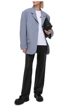 Женские кожаные брюки GRLFRND черного цвета, арт. GRP31-F20 | Фото 2