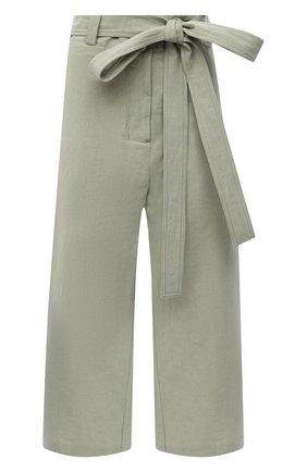 Женские брюки из хлопка и льна MONCLER зеленого цвета, арт. G1-094-2A710-00-V0153 | Фото 1