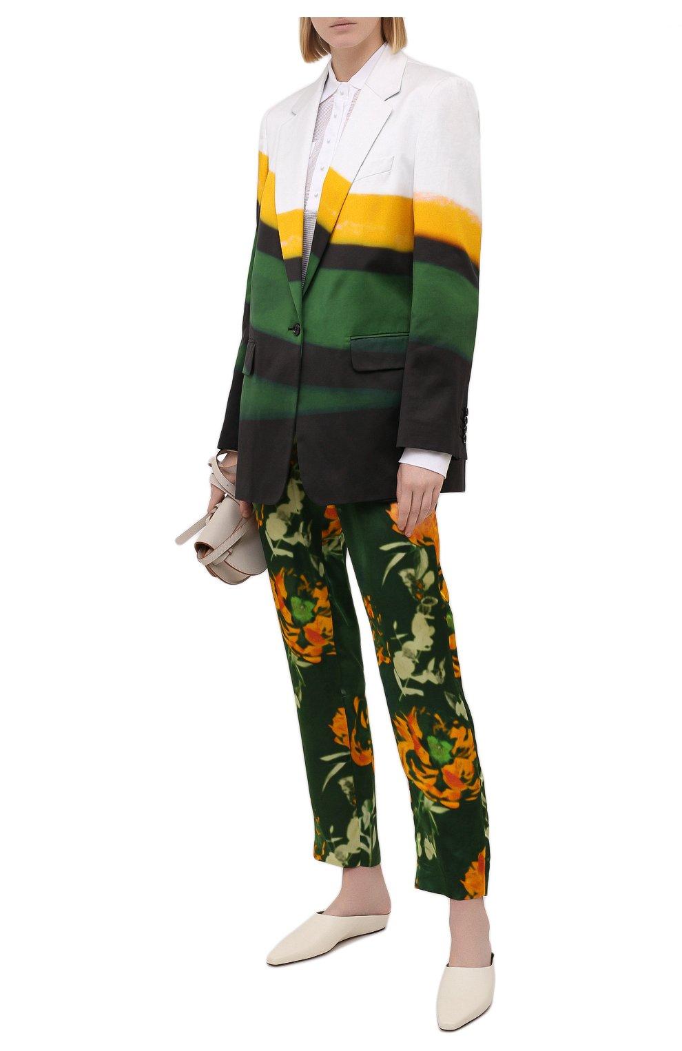 Женский хлопковый жакет DRIES VAN NOTEN разноцветного цвета, арт. 211-30416-2143 | Фото 2