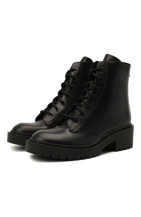 Женские кожаные ботинки KENZO черного цвета, арт. FA62BT340L62 | Фото 1