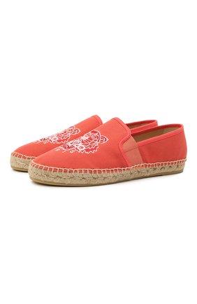 Женские текстильные эспадрильи KENZO красного цвета, арт. FB52ES188F70 | Фото 1