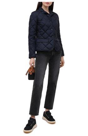 Женская пуховая куртка MONCLER темно-синего цвета, арт. G1-093-1A52Y-00-539YH | Фото 2