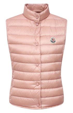 Женский пуховый жилет MONCLER розового цвета, арт. G1-093-1A102-00-53048 | Фото 1