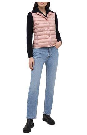 Женский пуховый жилет MONCLER розового цвета, арт. G1-093-1A102-00-53048 | Фото 2