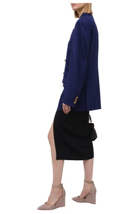 Женские кожаные туфли rockstud VALENTINO бежевого цвета, арт. VW2S0AZ0/VNW   Фото 2