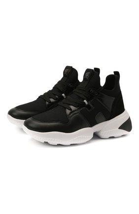 Женские комбинированные кроссовки HOGAN черного цвета, арт. HXW5250CH20MSZ | Фото 1