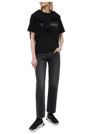 Женские комбинированные кроссовки HOGAN черного цвета, арт. HXW5250CH20MSZ | Фото 2