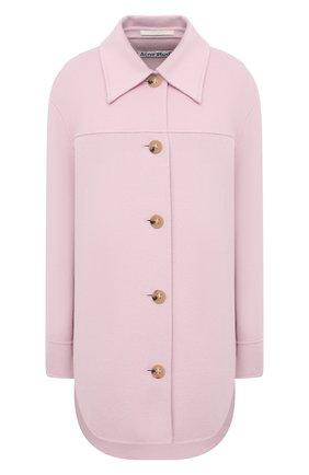 Женская шерстяная куртка ACNE STUDIOS сиреневого цвета, арт. A90349   Фото 1