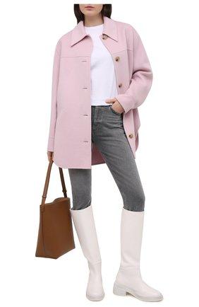 Женская шерстяная куртка ACNE STUDIOS сиреневого цвета, арт. A90349   Фото 2