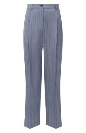 Женские шерстяные брюки ACNE STUDIOS голубого цвета, арт. AK0363 | Фото 1