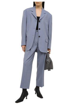 Женские шерстяные брюки ACNE STUDIOS голубого цвета, арт. AK0363 | Фото 2