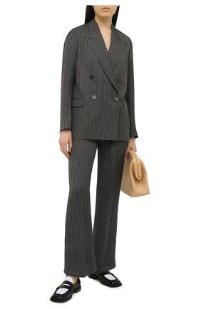 Женские брюки из льна и вискозы ACNE STUDIOS серого цвета, арт. AK0376 | Фото 2