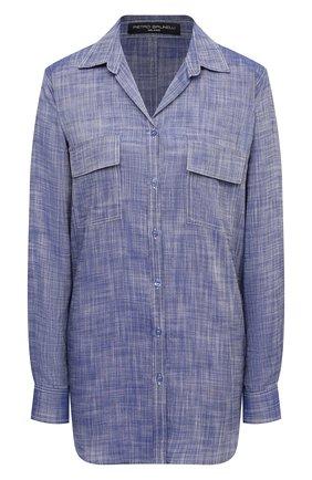 Женская рубашка из вискозы PIETRO BRUNELLI синего цвета, арт. CAD003/VI0074 | Фото 1