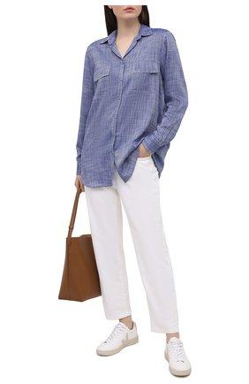 Женская рубашка из вискозы PIETRO BRUNELLI синего цвета, арт. CAD003/VI0074 | Фото 2