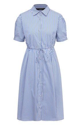 Женское хлопковое платье PIETRO BRUNELLI синего цвета, арт. AG0459/C0DAYT/8010 | Фото 1